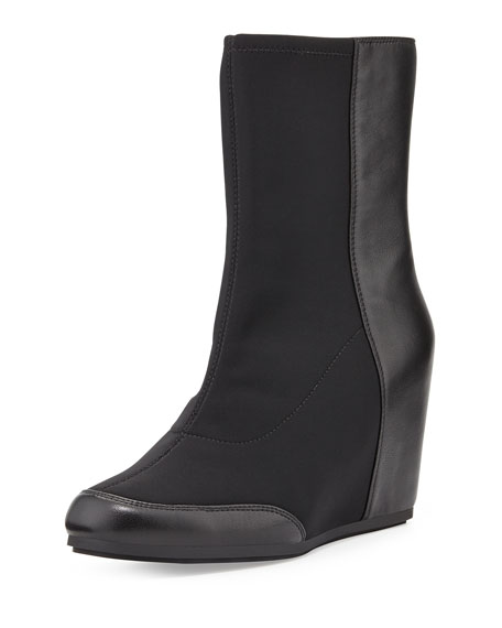 dual stretch front wedge boot black