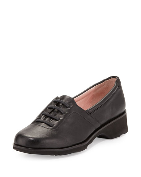 Taryn Rose Takala Traveler Lace-Up Slip-On, Black