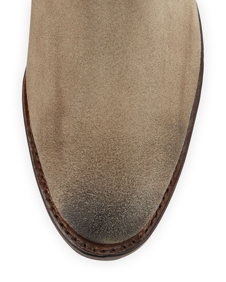 Dorado Suede Riding Boot, Sand
