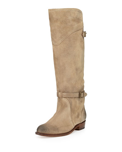Frye Dorado Suede Riding Boot, Sand