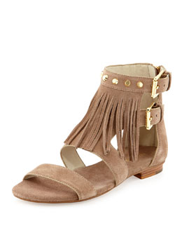 MICHAEL Michael Kors Billy Studded Fringe Sandal