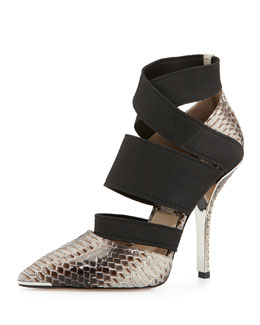Michael Kors  Alexa Stretch/Snakeskin Pump