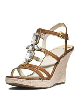 MICHAEL Michael Kors  Jayden Jeweled Wedge Sandal