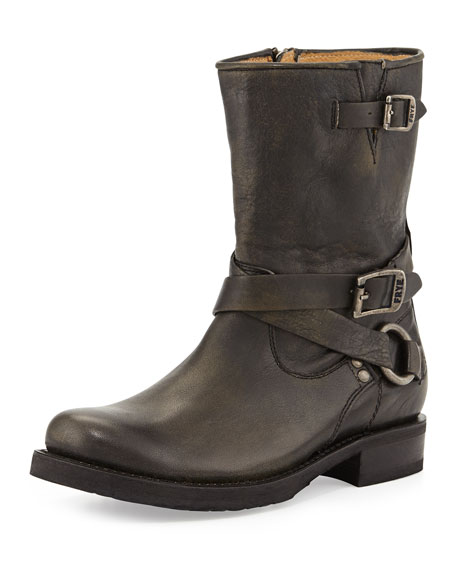 Veronica Harness Short Boot, Black