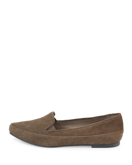 Play Point-Toe Suede Slip-On, Ash