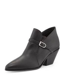 Giuseppe Zanotti Buckled Leather Ankle Boot
