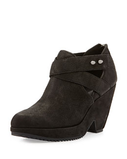 Eileen Fisher Watt Nubuck Bootie, Black