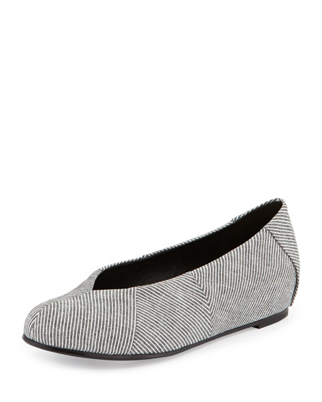 Quilt Mini-Stripe Slipper Flat