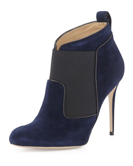 Beauford Suede Ankle Boot, Navy