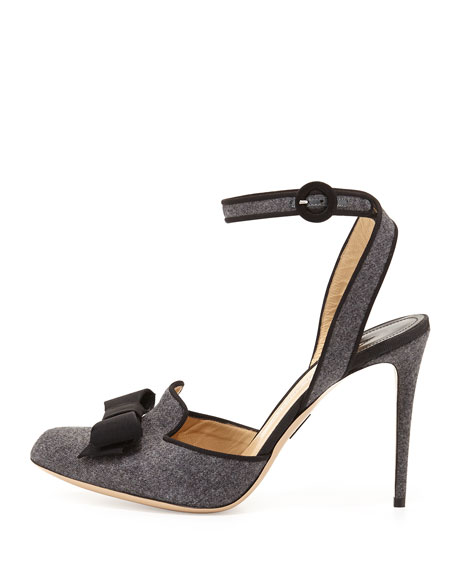 Flannel Ankle-Strap Smoking Sandal