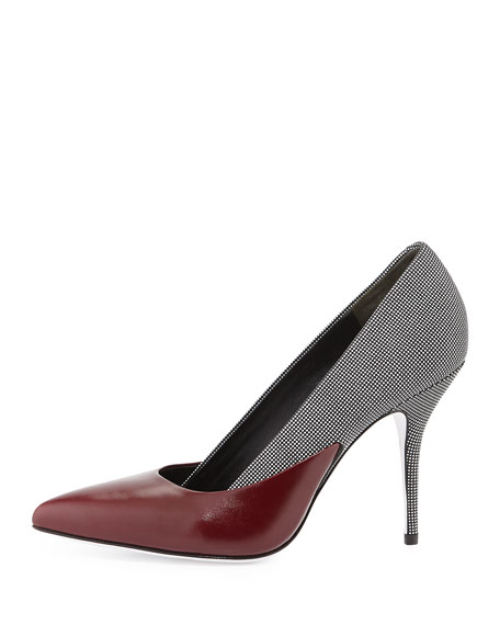 Cicely Mixed-Leather Pump