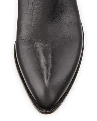 Alexander WangAlexander Wang Sigrid Lift-Heel Leather Knee Boot, Black