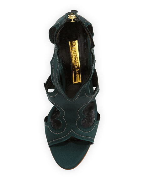 Estelle Satin Cutout Sandal
