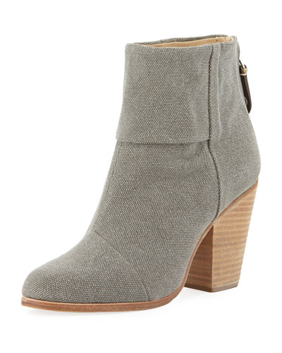 Rag & Bone Newbury Canvas Ankle Boot, Dark Gray