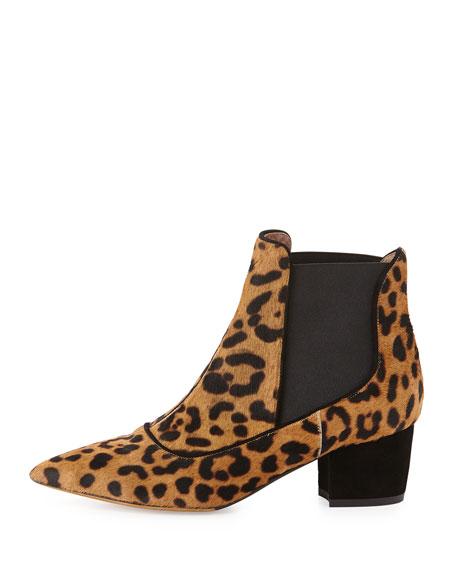 Calf Hair Chelsea Boot, Leopard