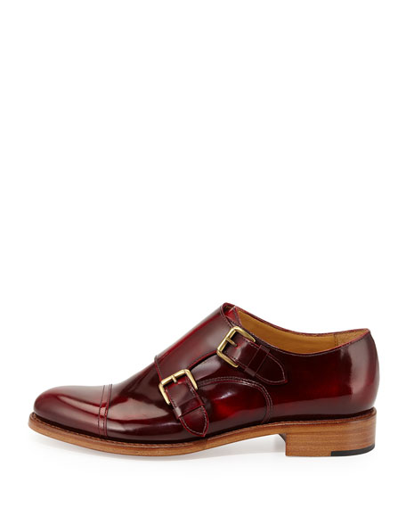 Cap-Toe Monk-Strap Loafer, Scarlett