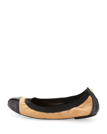 Tory Burch Quilted Cap-Toe Flats free shipping explore footlocker finishline online buy cheap 2014 new under $60 for sale cheap latest collections AdBMDwUp6