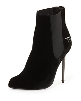 Tom Ford TF Gored Velvet Ankle Bootie