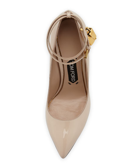 Patent 105mm Ankle-Lock Pump, Nude