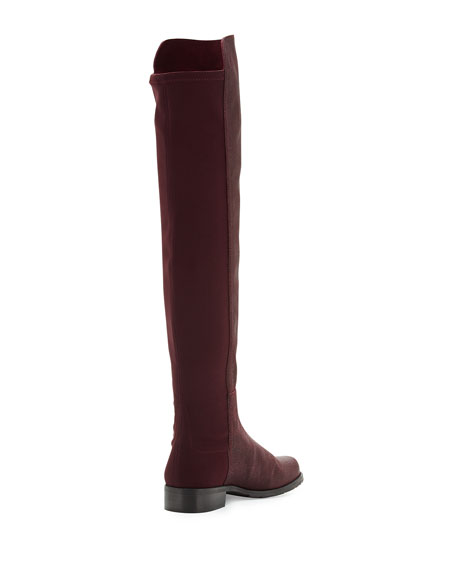 50/50 Pindot Over-the-Knee Boot, Bordeaux