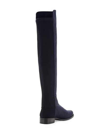 50/50 Pindot Over-the-Knee Boot, Nice Blue