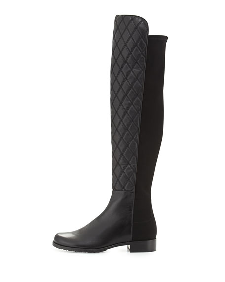 Quiltboot 50/50 Over-the-Knee Boot, Black