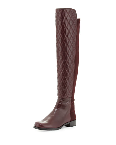 Quiltboot 50/50 Over-the-Knee Boot, Bordeaux