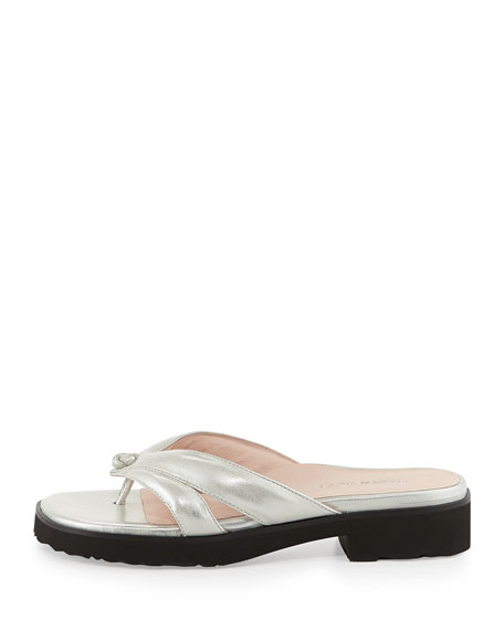96ee5e177f9c Taryn Rose Tacy Metallic Thong Sandal