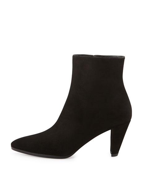 Apollo Suede Ankle Boot, Black