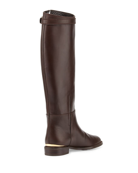 Bronco Leather Riding Boot, Walnut