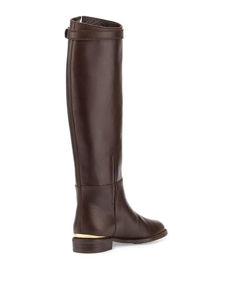 Bronco Leather Riding Boot, Walnut