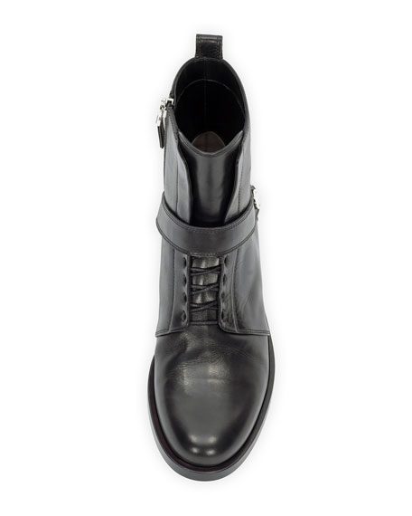 Diana Leather Ranger Boot, Nero