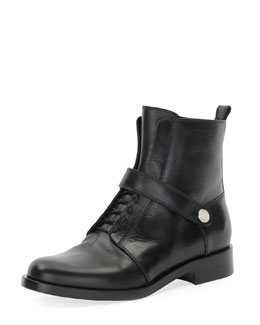 Fendi Diana Leather Ranger Boot, Nero