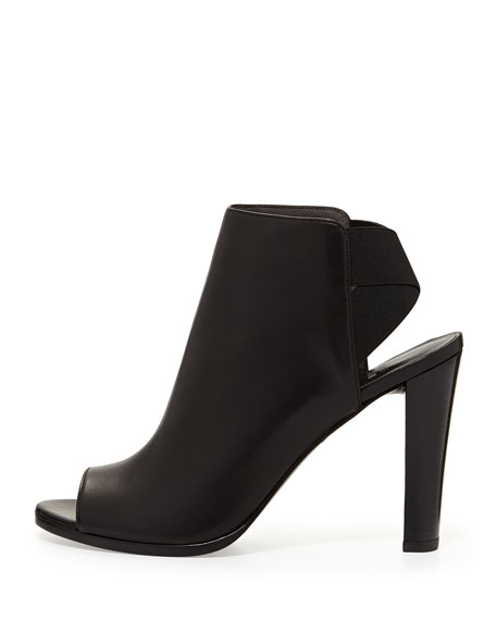 Stuart Weitzman Peep-Toe Leather Ankle Boots pay with paypal online cheap many kinds of cheap release dates vG63FCzf