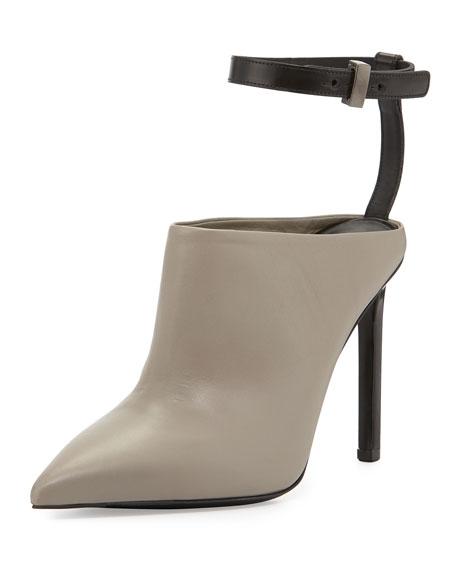 Armon Ankle-Strap Mule, Woodsmoke/Black