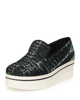 Stella McCartney Tie Dye Jacquard Skate Shoe, Forest/Black