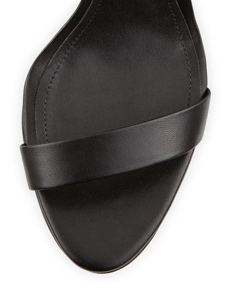Cadey-Lee Leather Ankle-Strap Sandal, Black