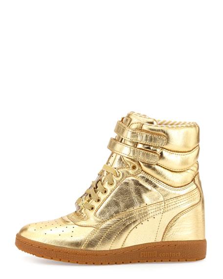 Puma McQueen Rime Sky Wedge Leather High-Top Sneaker b2ae061d4