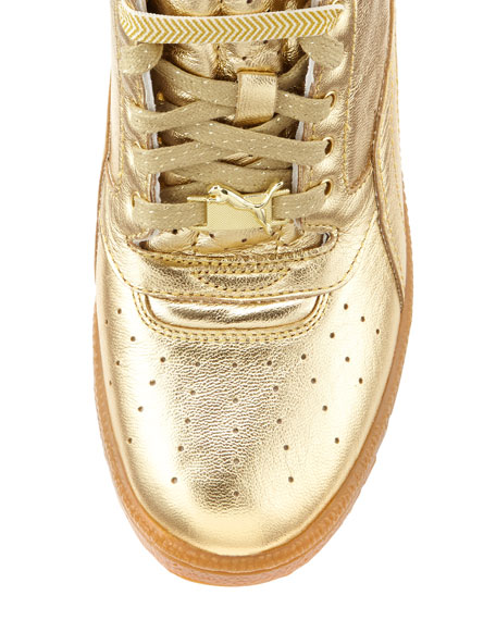 gold puma high tops