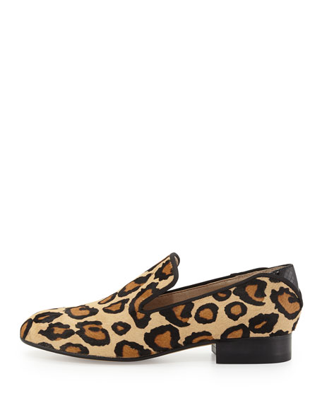 Kalinda Leopard-Print Calf Hair Loafer