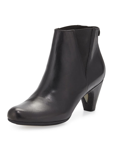 Morillo Leather Ankle Bootie, Black
