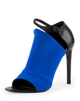 Balenciaga Neoprene Glove Sandal, Electric Blue