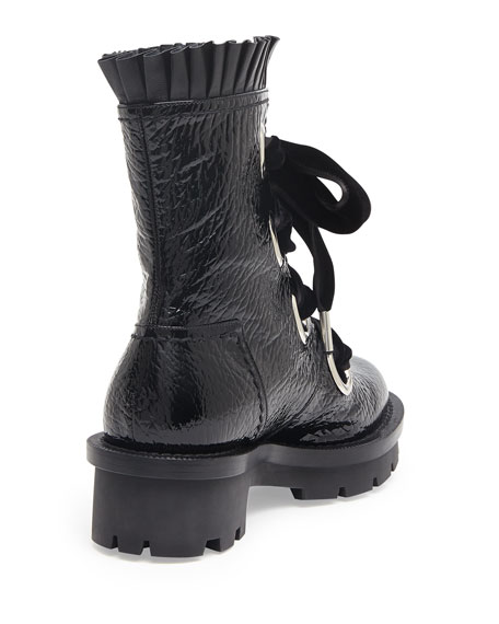 Alexander McQueen Leather Lace-Up Boots 100% original for sale zx1F2uNGuj