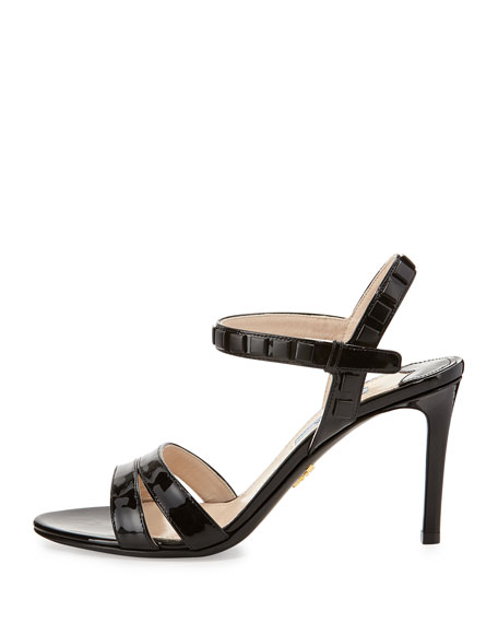 Simple Patent Sandal with Studs