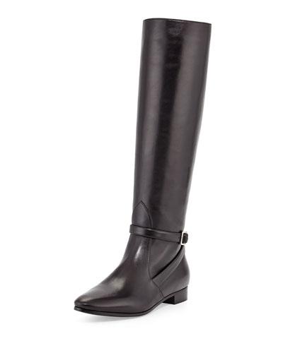 Prada Flat Ankle-Strap Knee Boot