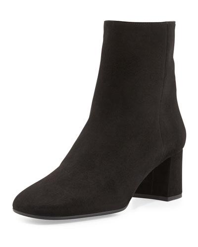Prada Suede Ankle Boot, Nero