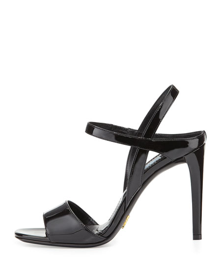 Patent Ankle-Strap Sandal, Nero