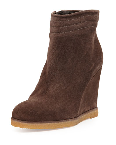 Stuart Weitzman Meridian Wedge Ankle Boot, Seal