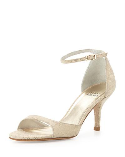 Stuart Weitzman Sobare Ankle-Strap Sandal, Cava