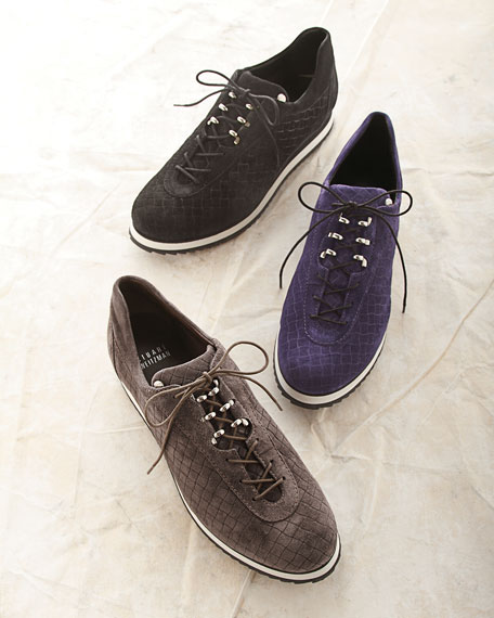 Relay Suede Sneaker, Nero Black